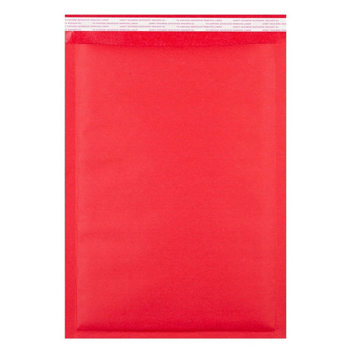C3 Matt Red Padded (Paper Finish) Bubble Envelopes [Qty 50] 320 x 450mm