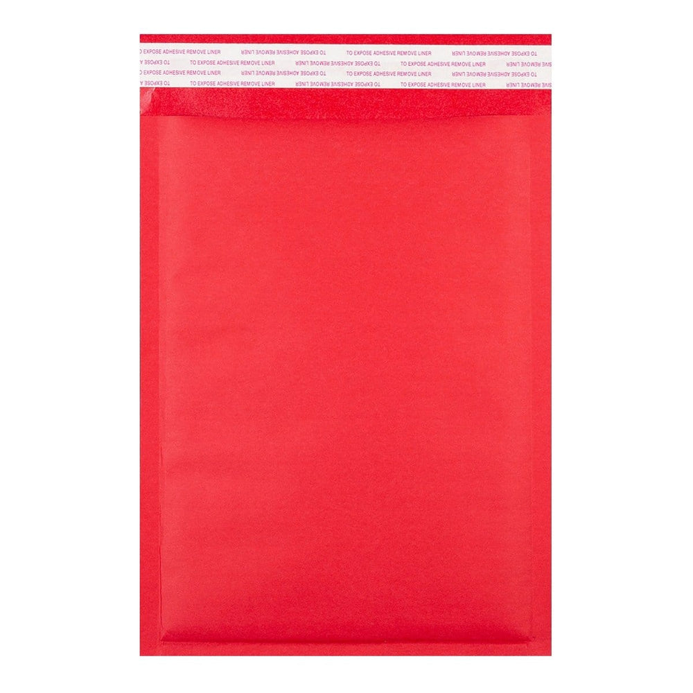 250 x 350 Matt Red Padded (Paper Finish) Bubble Envelopes [Qty 100] (2131285639257)