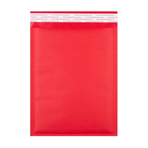 190 x 270 Matt Red Padded (Paper Finish) Bubble Envelopes [Qty 100] (2131285377113)