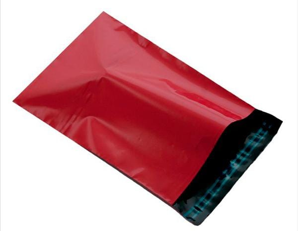 Red Mailing Bags - Poly Packaging Envelopes [Qty 500] 250 x 350mm C4 - A4