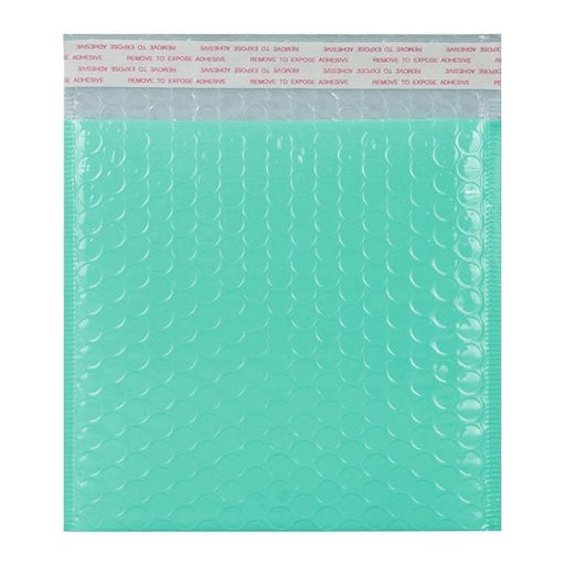 165 x 165 Duck Egg Blue Gloss Padded Bubble Envelopes [Qty 100]