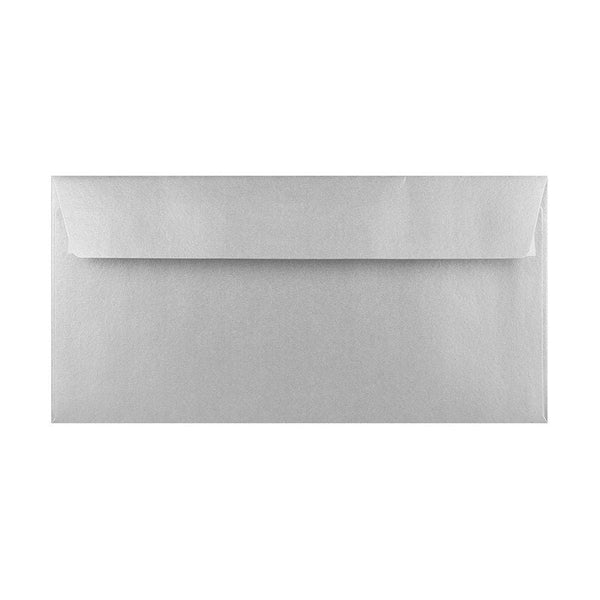 DL Silver 100gsm Peel & Seal Envelopes [Qty 500] 110 x 220mm (2131382665305)