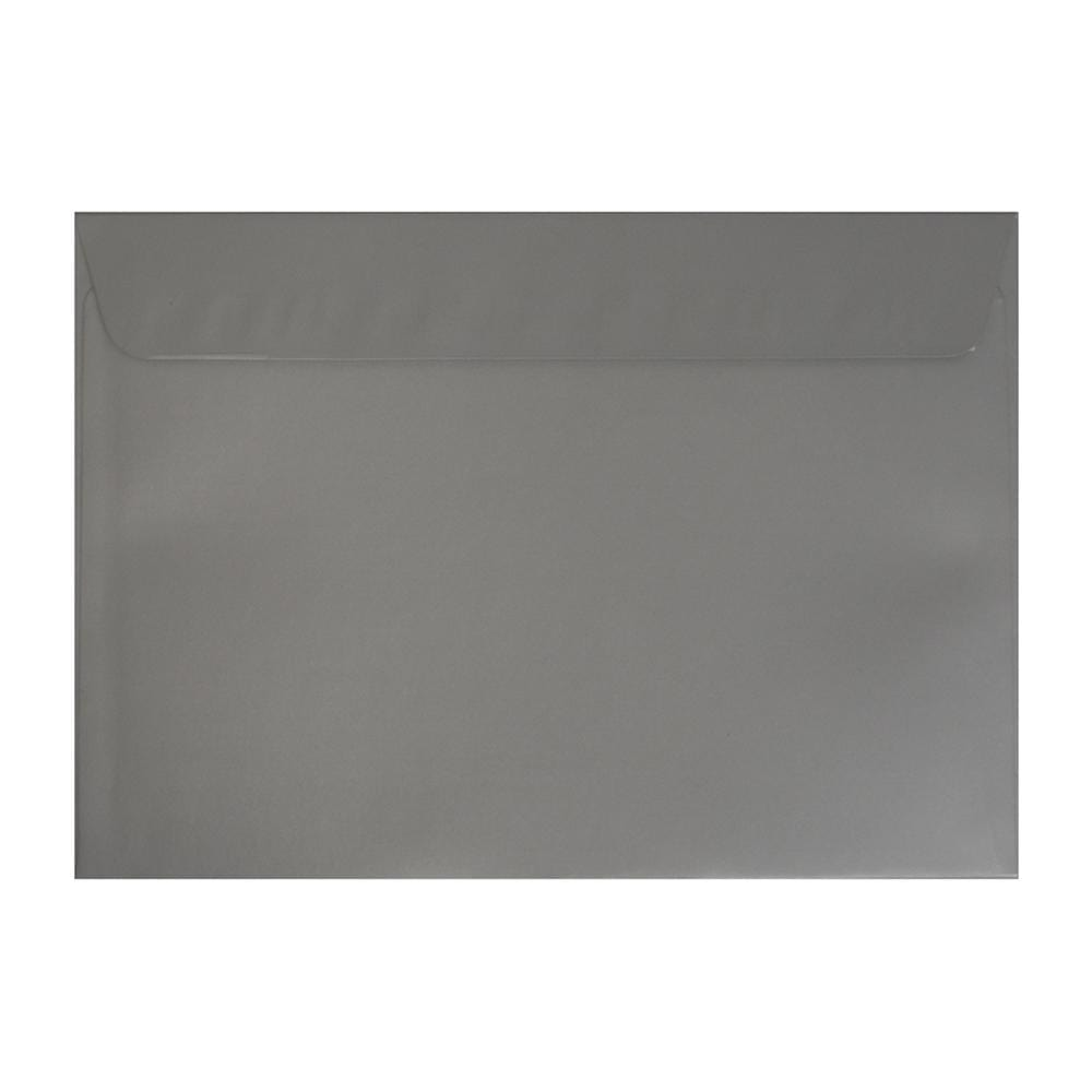 C4 Metallic Silver 130gsm Peel & Seal Envelopes [Qty 250] 229 x 324mm (2131297632345)