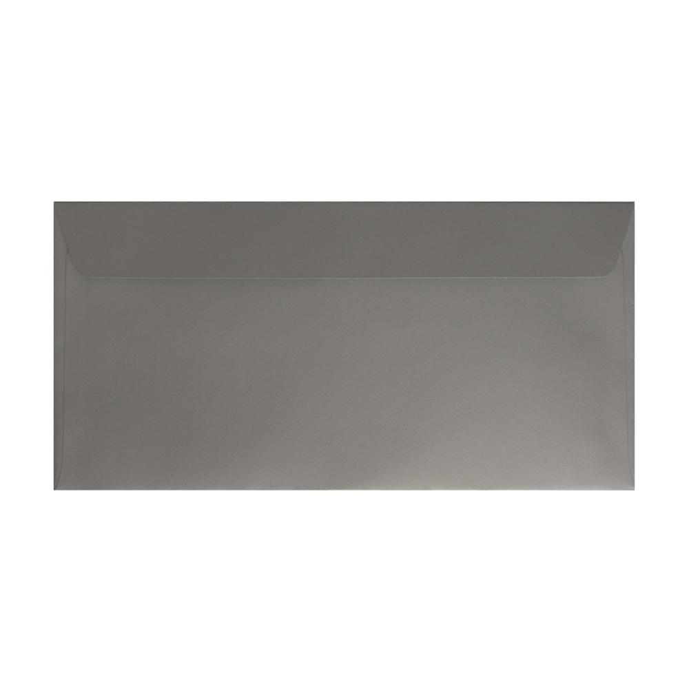 DL Metallic Silver 130gsm Peel & Seal Envelopes [Qty 500] 114 x 229mm (2131297075289)