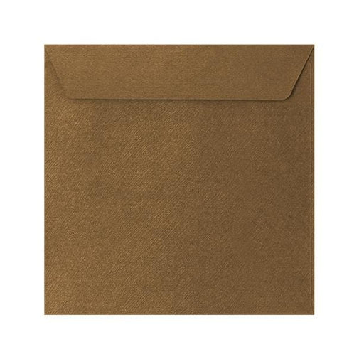 130 x 130 Bronze Textured 120gsm Peel & Seal Envelopes [Qty 250]
