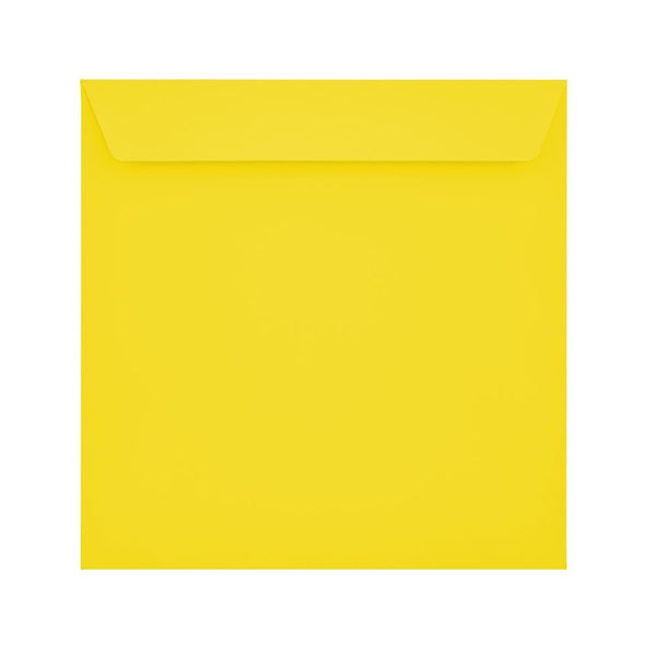 160 x 160 Canary Yellow 120gsm Peel & Seal Envelopes [Qty 500] (2131099680857)