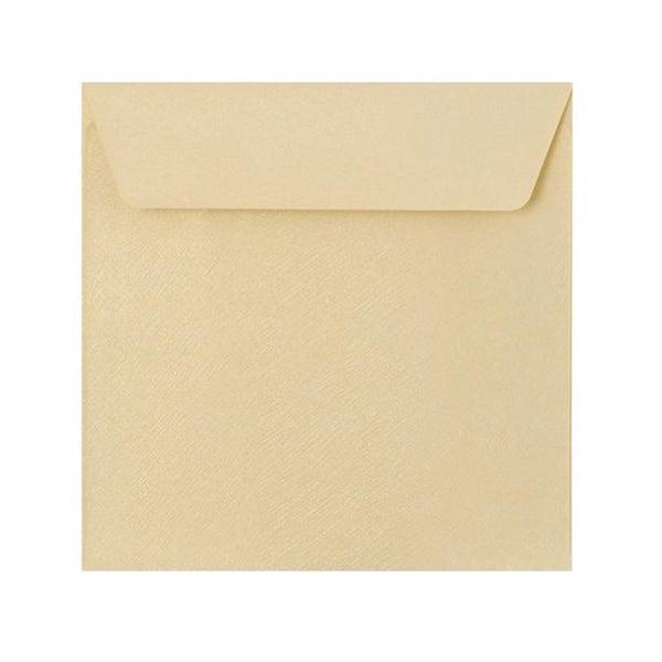 130 x 130 Champagne Textured 120gsm Peel & Seal Envelopes [Qty 250] (2131072811097)