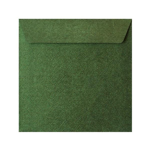 130 x 130 Forest Green Textured 120gsm Peel & Seal Envelopes [Qty 250] (2131072909401)