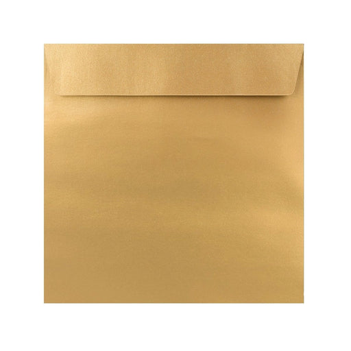 155 x 155 Metallic Gold 120gsm Peel & Seal Envelopes [Qty 250]