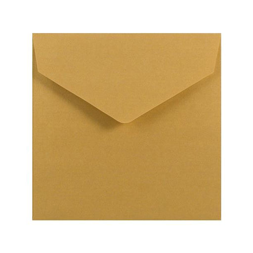 155 x 155 Metallic Gold V Flap Envelopes [Qty 250]