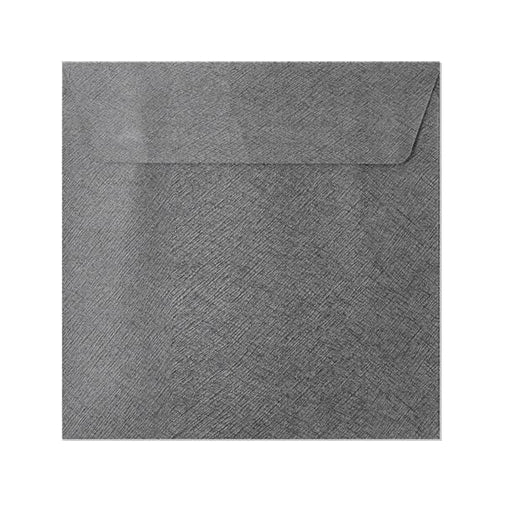 130 x 130 Grey Textured 120gsm Peel & Seal Envelopes [Qty 250] (2131073204313)