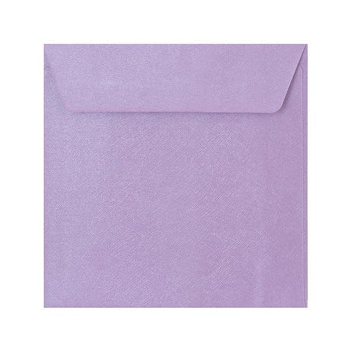 155 x 155 Lilac Textured 120gsm Peel & Seal Envelopes [Qty 250] (2131075399769)