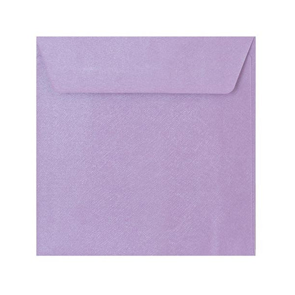 155 x 155 Lilac Textured 120gsm Peel & Seal Envelopes [Qty 250]