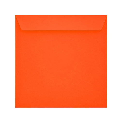 160 x 160 Sunset Orange 120gsm Peel & Seal Envelopes [Qty 500] (2131099811929)