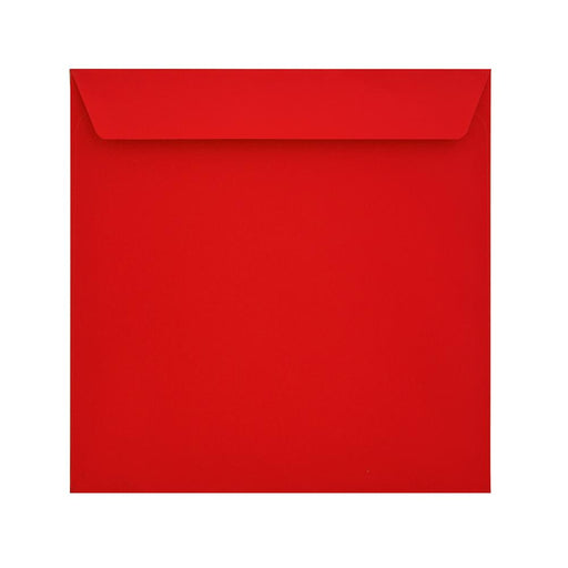 160 x 160 Pillar Box Red 120gsm Peel & Seal Envelopes [Qty 500]