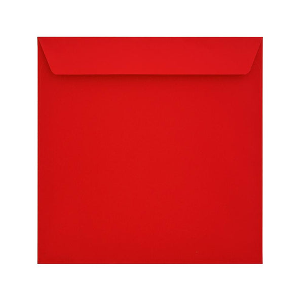 160 x 160 Pillar Box Red 120gsm Peel & Seal Envelopes [Qty 500] (2131100008537)