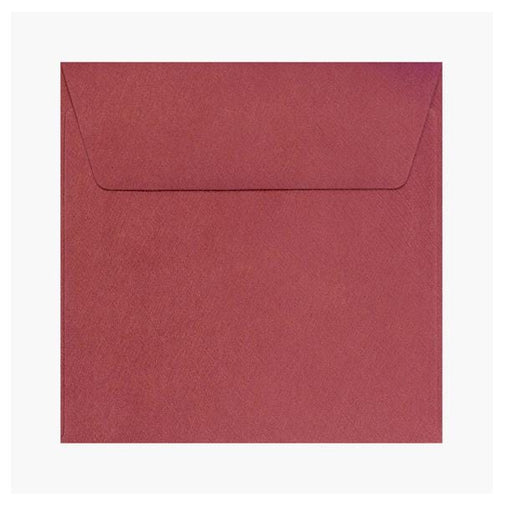 130 x 130 Red Textured 120gsm Peel & Seal Envelopes [Qty 250]