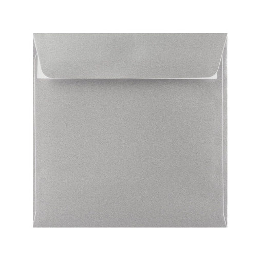 155 x 155 Metallic Silver 120gsm Peel & Seal Envelopes [Qty 250]