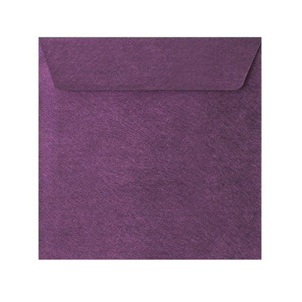 155 x 155 Violet Textured 120gsm Peel & Seal Envelopes [Qty 250] (2131076120665)