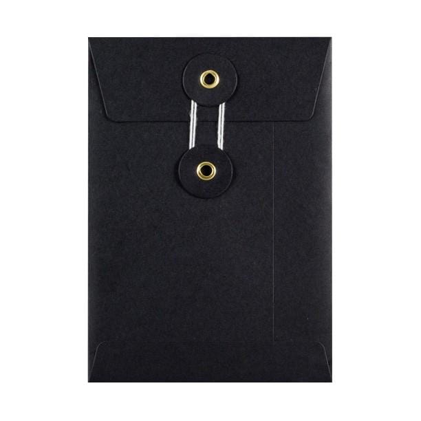 C6 Black String & Washer Envelopes [Qty 100] 162 x 114mm