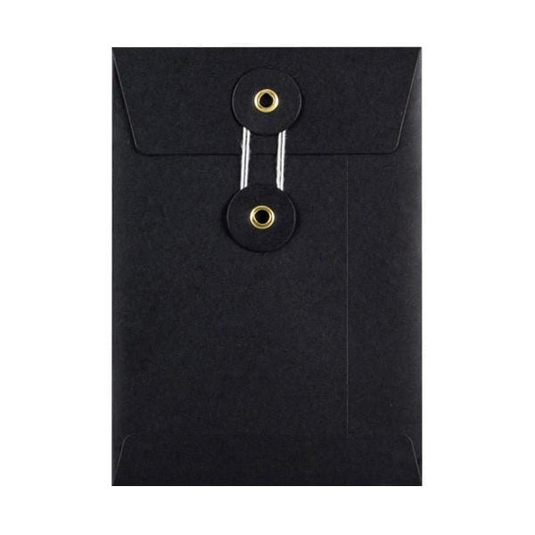 C6 Black String & Washer Envelopes [Qty 100] 162 x 114mm (2131288424537)