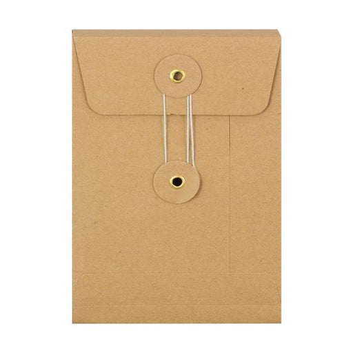 C6 Manilla Gusset String & Washer Envelopes [Qty 100] 162 x 114 x 25mm (2131289702489)