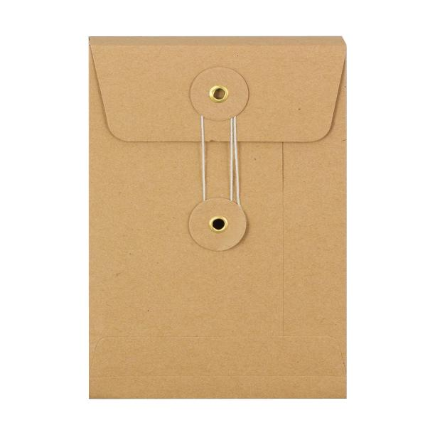 C6 Manilla Gusset String & Washer Envelopes [Qty 100] 162 x 114 x 25mm