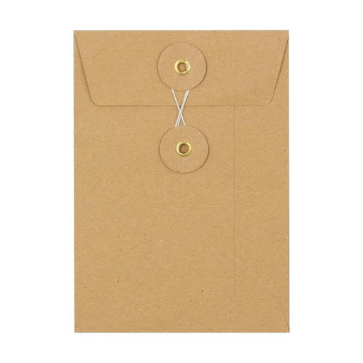 C6 Manilla String & Washer Envelopes [Qty 100] 162 x 114mm
