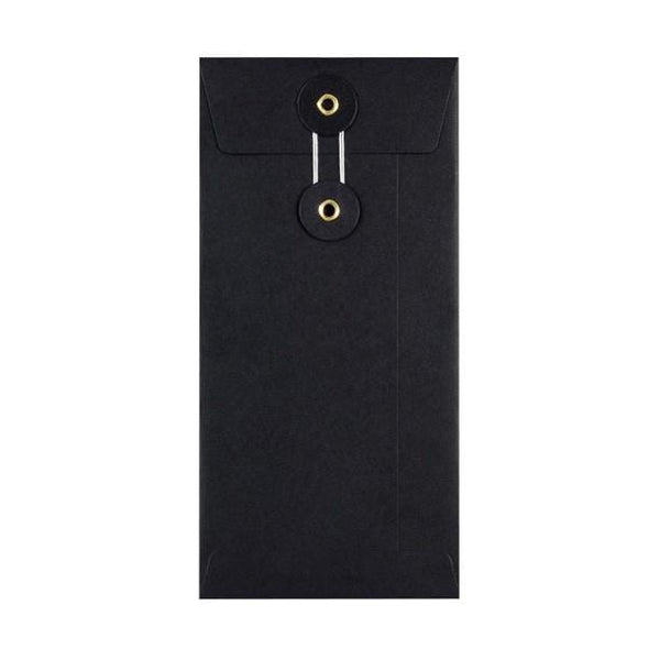 DL Black String & Washer Envelopes [Qty 100] 220 x 110mm (2131288129625)