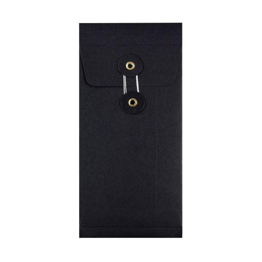 DL Black Gusset String & Washer Envelopes [Qty 100] 220 x 110 x 25mm