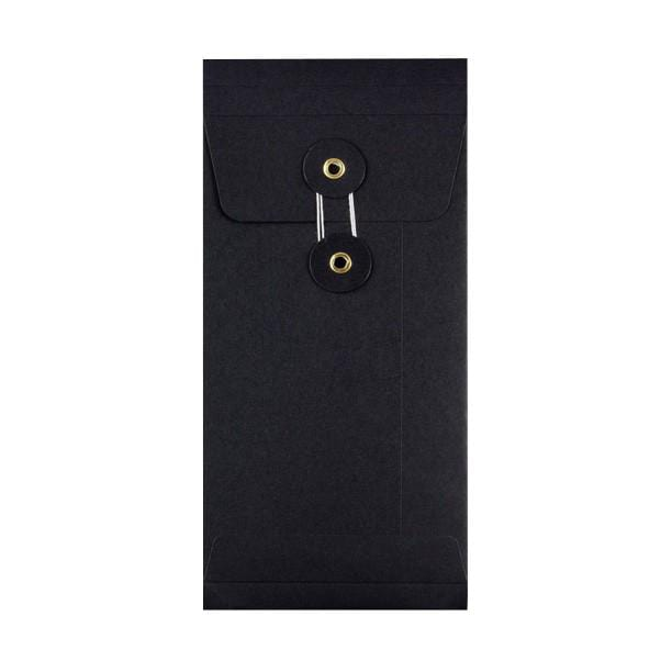DL Black Gusset String & Washer Envelopes [Qty 100] 220 x 110 x 25mm (2131288784985)