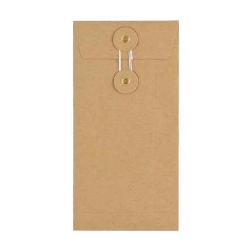 DL Manilla String & Washer Envelopes [Qty 100] 220 x 110mm