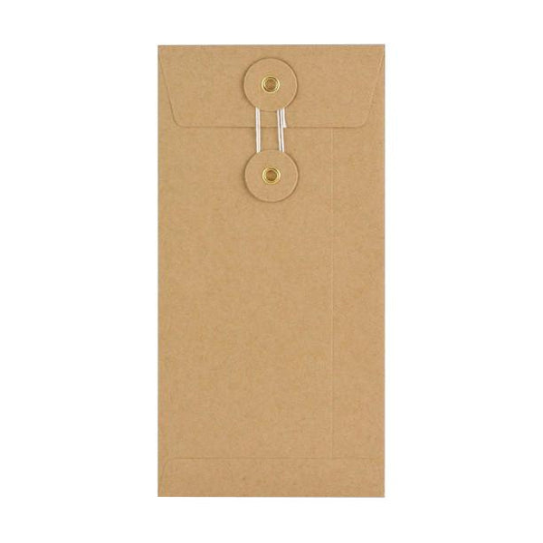 DL Manilla String & Washer Envelopes [Qty 100] 220 x 110mm (2131289505881)