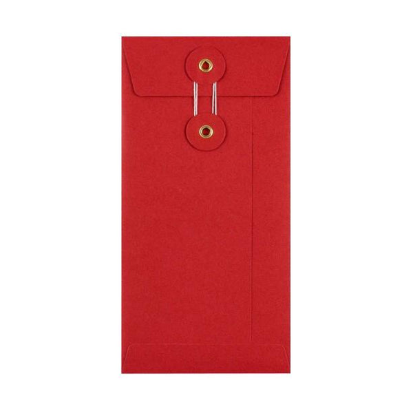 DL Red String & Washer Envelopes [Qty 100] 220 x 110mm (2131287900249)