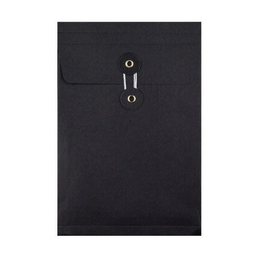 C5 Black Gusset String & Washer Envelopes [Qty 100] 229 x 162 x 25mm