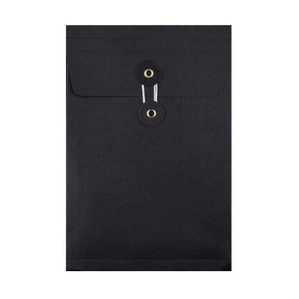 C5 Black Gusset String & Washer Envelopes [Qty 100] 229 x 162 x 25mm (2131293536345)