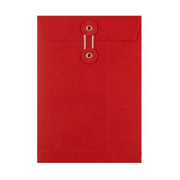 C5 Red String & Washer Envelopes [Qty 100] 229 x 162mm