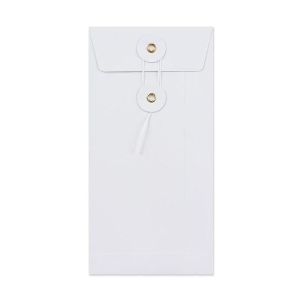 DL White Gusset String & Washer Envelopes [Qty 100] 220 x 110mm (2131440074841)
