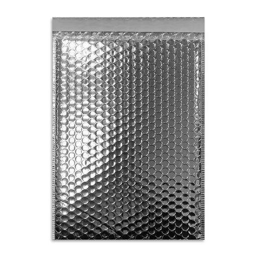C4 Metallic Silver Padded Bubble Envelopes [Qty 100] 230mm x 324mm