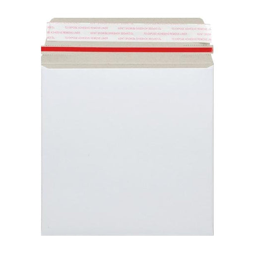 260 x 260 White 350gsm Board Peel & Seal Envelopes [Qty 100]