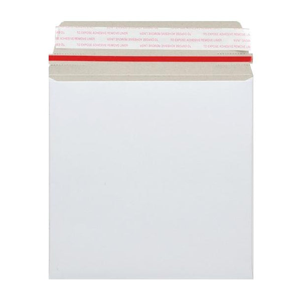 125 x 125 White 350gsm Board Peel & Seal Envelopes [Qty 200]