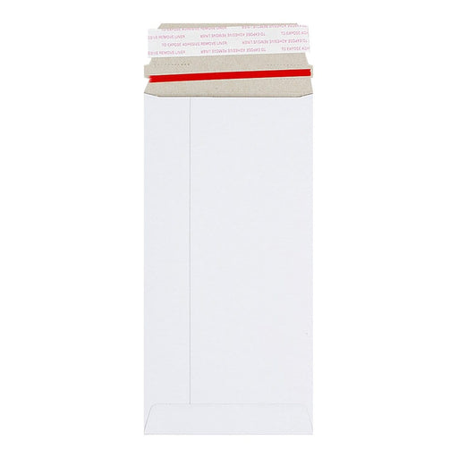 DL White 350gsm Board Peel & Seal Envelopes [Qty 100] 110mm x 220mm