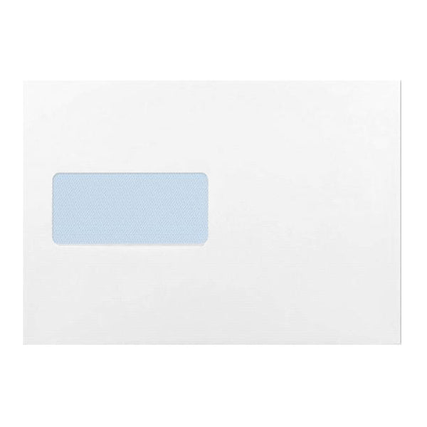 C5 White Window 120gsm Peel & Seal Envelopes [Qty 500] 162 x 229mm
