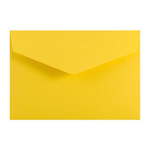 Yellow Business Card Envelopes 120gsm Peel & Seal [Qty 250] 62 x 94mm