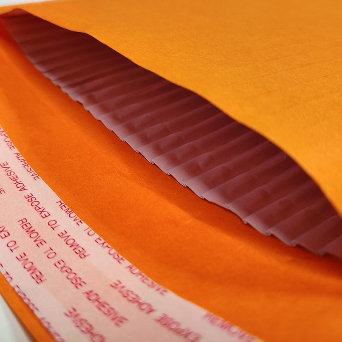340 x 240mm Orange 180gsm Recyclable Corrugated Bags [Qty 100] (4441107628121)