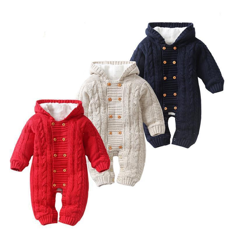 e19787995839 Oscar Knitted Sweater Hooded Romper Winter Collection MollycoddleMe