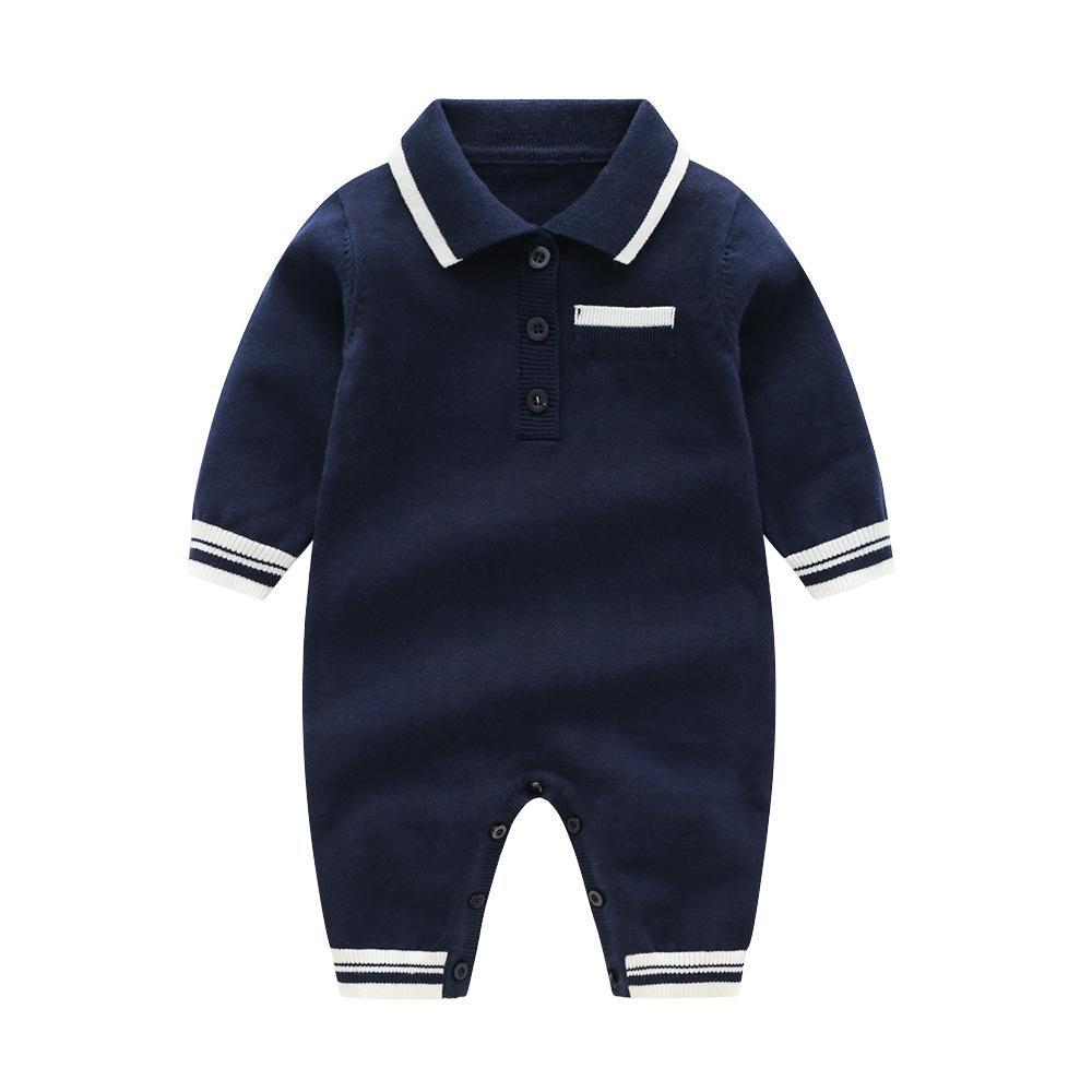 Edward Tshirt Romper navy blue / 24M Mollycoddle Me Baby Boy Rompers mollycoddle-me.myshopify.com Mollycoddle Me