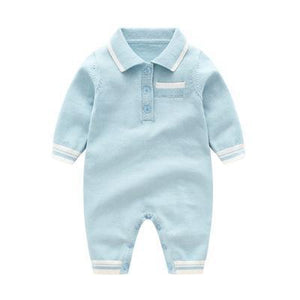 Edward Tshirt Romper sky blue / 24M Mollycoddle Me Baby Boy Rompers mollycoddle-me.myshopify.com Mollycoddle Me