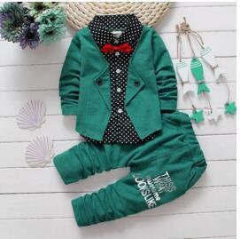Colin Suit Set Green / 24M Mollycoddle Me Baby Boy Sets mollycoddle-me.myshopify.com Mollycoddle Me