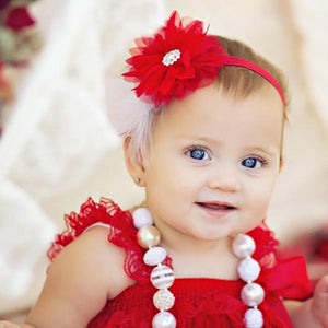 Red Feather Hairband Baby Headbands d40224b05c6